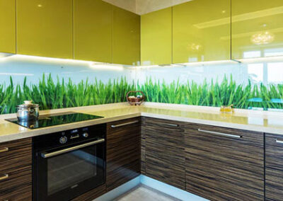 two-tone-glossy-green-kitchen